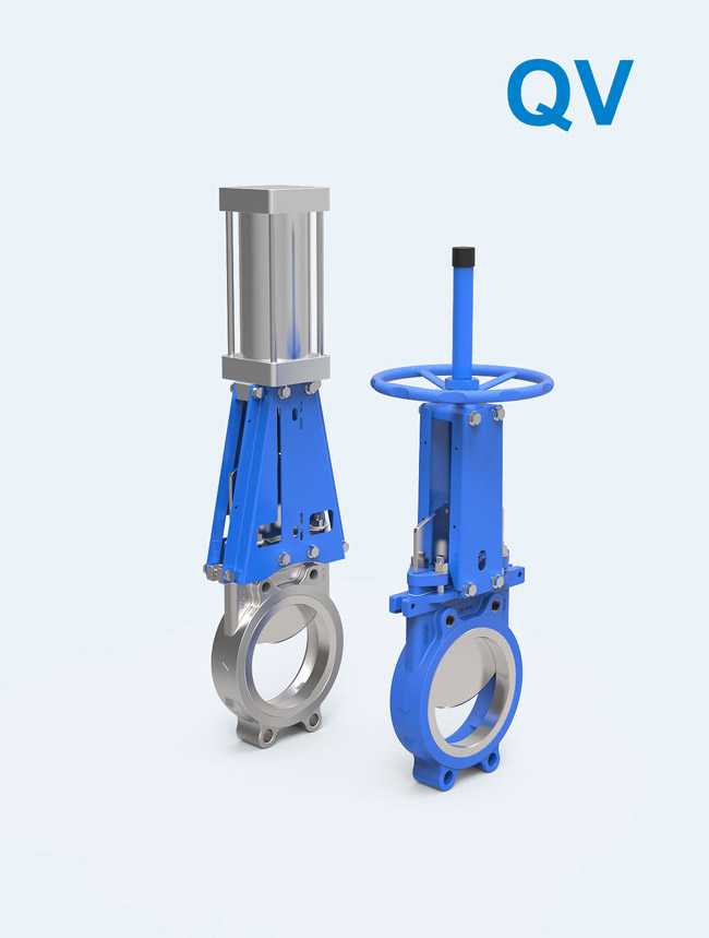 【QV series】</br> Unidirectional seal Knife Gate Valve for sugar, paper, sewage, tailings, slagging, and other general purpose