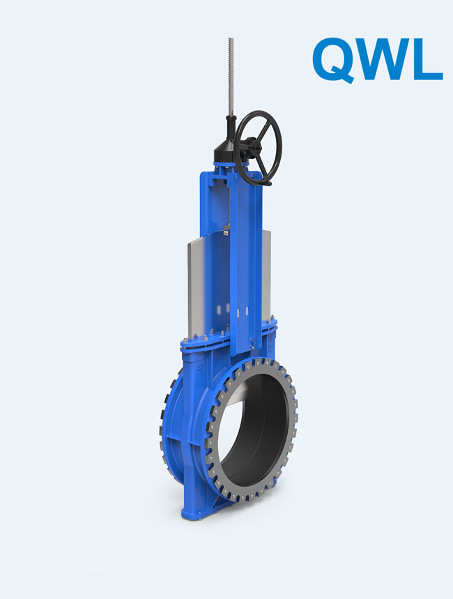 QWL series</br> Bi-directional Self-sealing Knife Gate Valve/Medium Pressure for Mud, pulp, tailings, cyclones and so on
